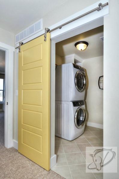 Barn door to laundry room