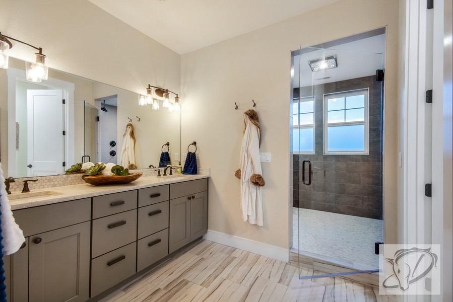 Master bath with Euro wet room