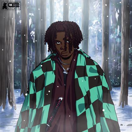Blu Boy Demon Slayer Illustration/Painting