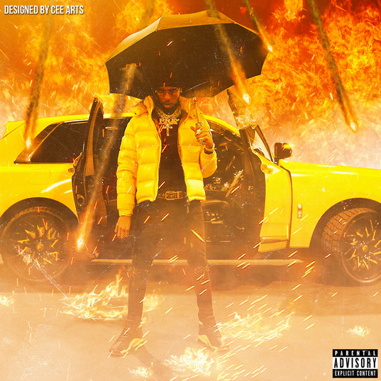 Key Glock - Yellow Tape | Concept Cover