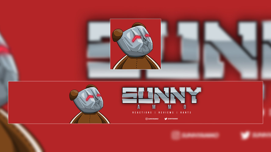 Sunny Ammo | Personal Youtube Banner & DP