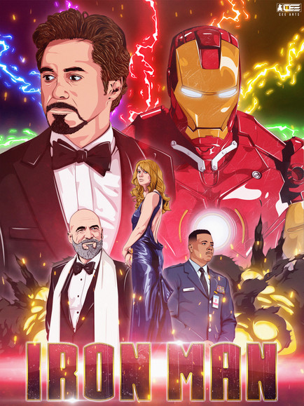 Illustrated | Iron Man 2008 | Movie Poster Concept