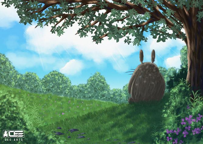 My Neighbor Totoro Digital Painting