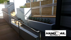 stainless 316 rails and balustrade