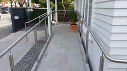 Accessible ramp is SS