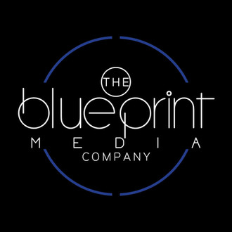 BluePrint MEdia Logo Blue, Black , White