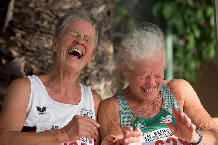 Older adults laughing Alex Rotas REACT study