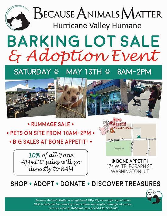 Barking Lot Sale event flier