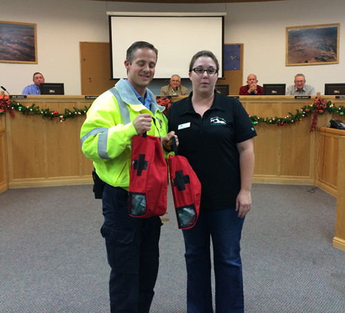 BAM presents oxygen masks to City of Hurricane