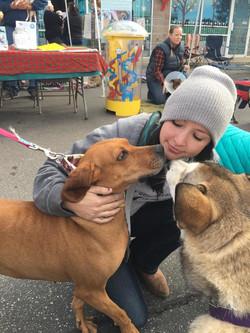 Volunteer kisses