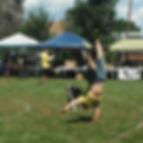 Casey Wittwer frisbee handstand