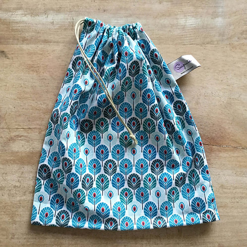 Plume bleue Taille M