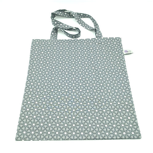 Tote bag moucharabieh gris