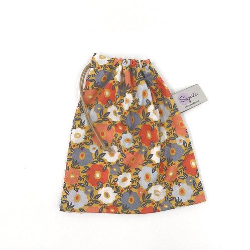 Sacavrac Fleuri orange Taille S