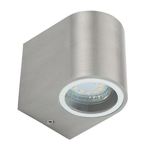 Ranex LED Wandlamp voor Buiten 3W - Geborsteld Aluminium - Modern Halfrond - GU1