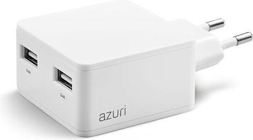 Fast Charger met 2 USB poorten - 2400 mAh / 5W - Type C 2-USB
