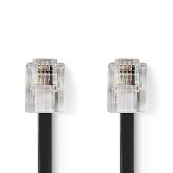 Netwerkkabel | RJ11 male - RJ11 male - 10 m