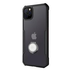 iPhone 11 TPU transparant backcover met ring en magneet