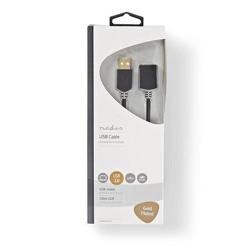 Verlengkabel USB 2.0 | A male - A female | 2,0 m