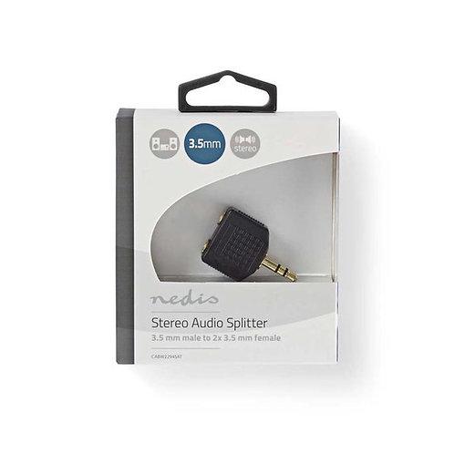 Nedis 3,5mm Jack stereo audio splitter - zwart
