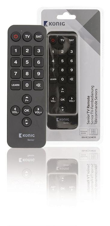 Senior TV Remote | Universele voorgeprogrammeerde afstandsbediening