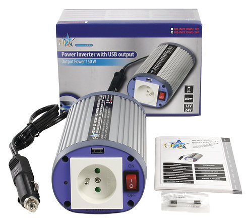Inverter Gemodificeerde Sinusgolf 24 VDC - AC 230V 150W