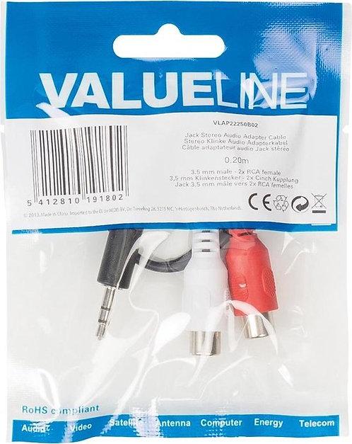 Valueline VLAP22250B02 kabeladapter/verloopstukje 3.5mm 2 x RCA