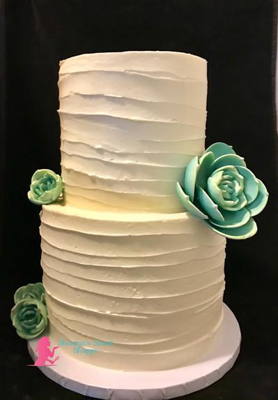 Ombre Succulent Cake