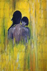 """One Flesh"" Acrylic on Canvas. 80/120cm. SOLD."