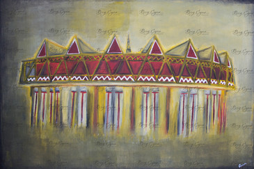 """The Theater"" Acrylic on Canvas. 120/80cm. SOLD."