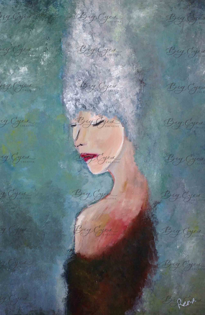 """""""The Mind Is Its Own Place"""" Acrylic on Canvas 40/60 cm. SOLD."""