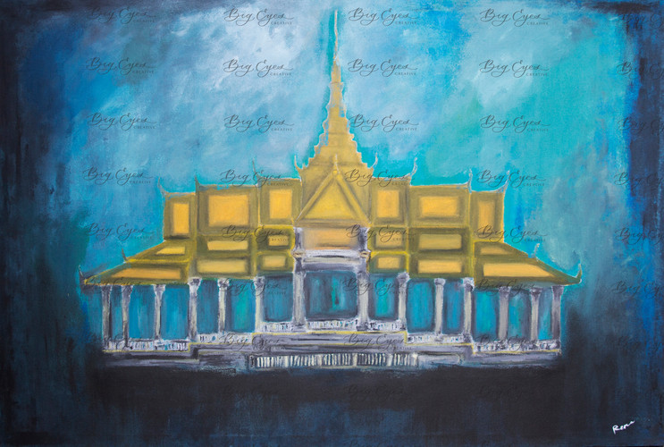 """The Palace"" Acrylic on Canvas. 120/80cm. Available at $400."