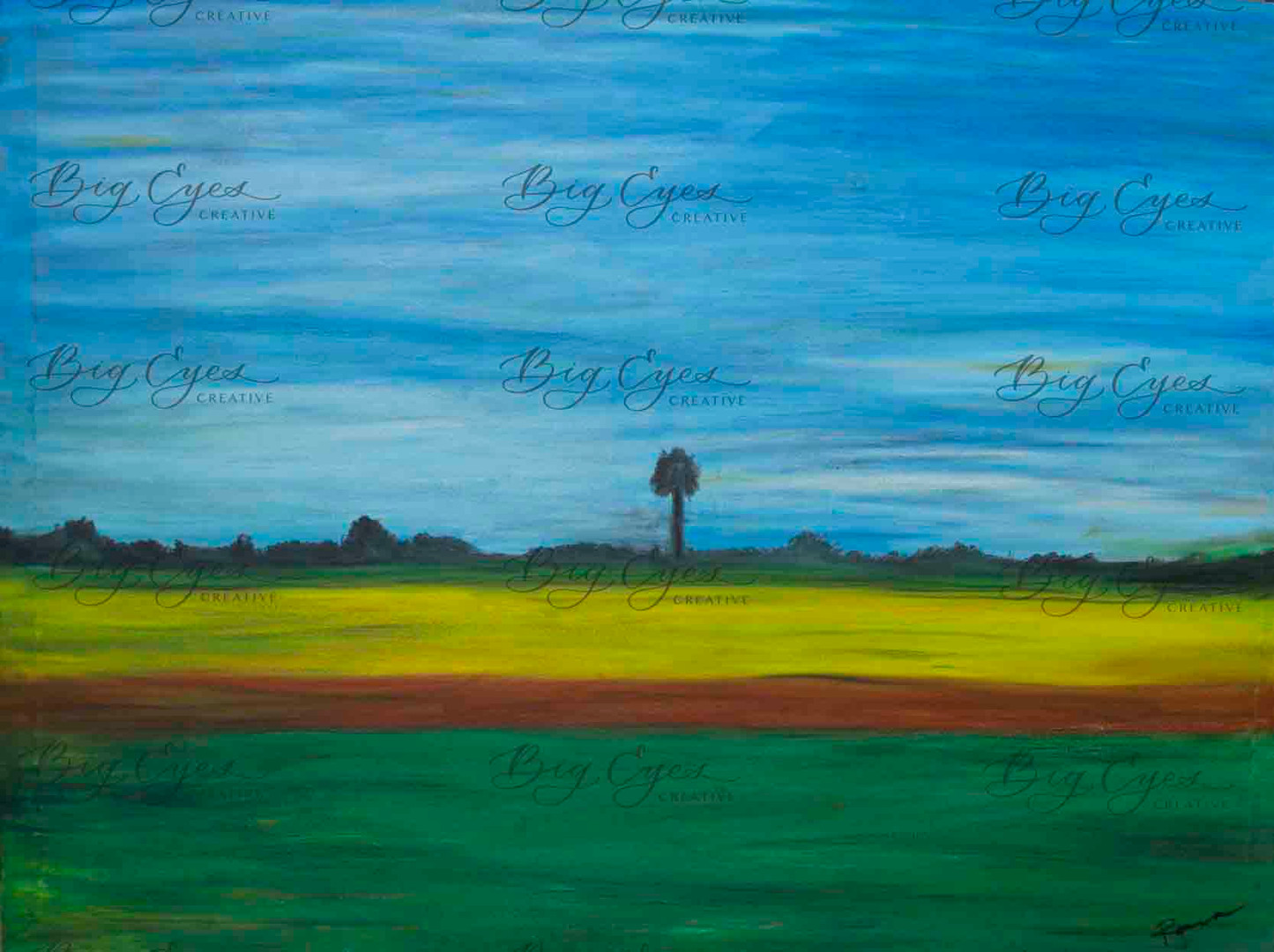 Oil Pastel on Canvas. Available at Mere Cafe at $180.