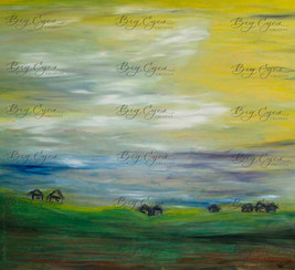 Oil Pastel on Canvas. 80/90cm. Available at Mere Cafe at $180.