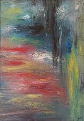 """""""Contrite Heart"""" Oil on Canvas. 70/100cm. SOLD."""