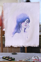 Watercolor on Canvas. SOLD.