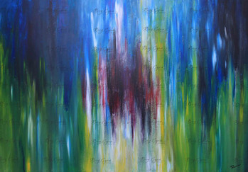 """""""Paradise Within"""" Acrylic on Canvas. 100/70cm. Available at $250."""