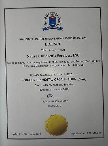 Nanze Licence.JPG