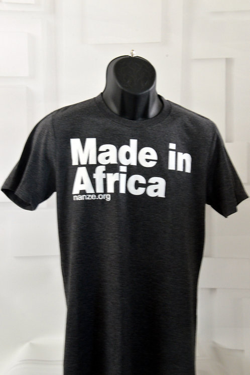 Made in Africa Tee, dark grey