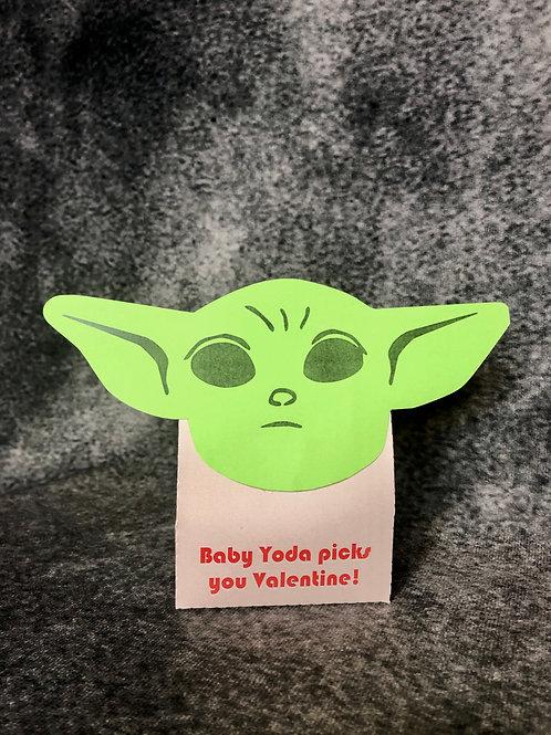 Baby Yoda Valentine Treat Boxes