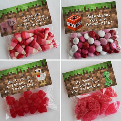 Minecraft Valentine Treat Topper