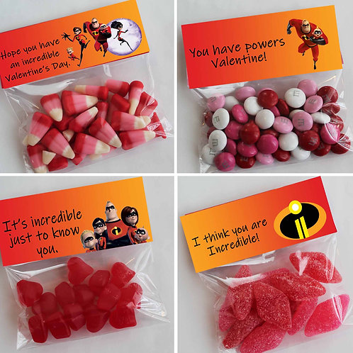 Incredibles Valentine Treat Topper
