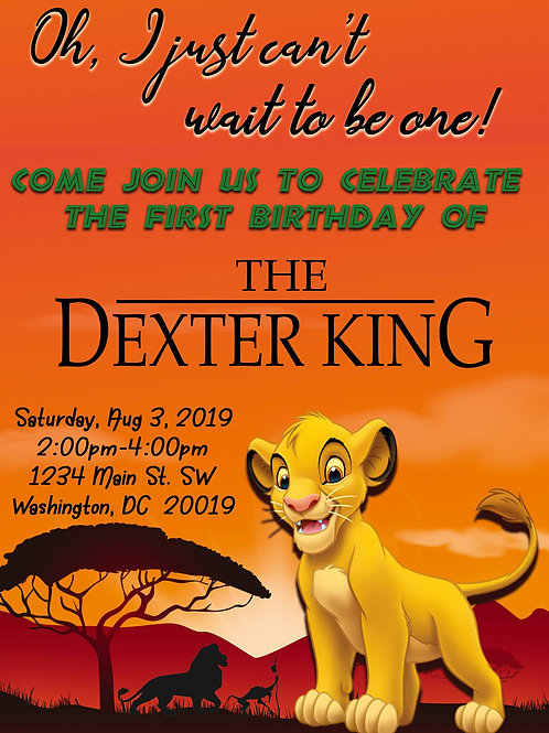 The Lion King Invitation