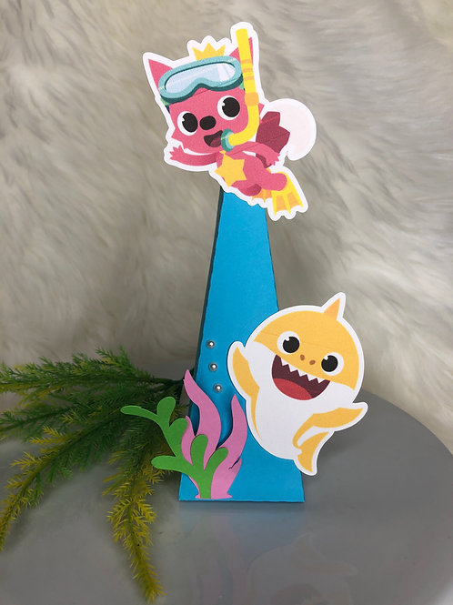 Baby Shark Pyramid Treat Box