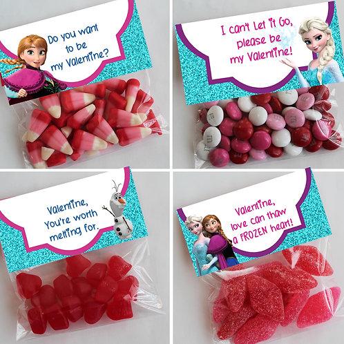 Frozen Valentine Treat Topper