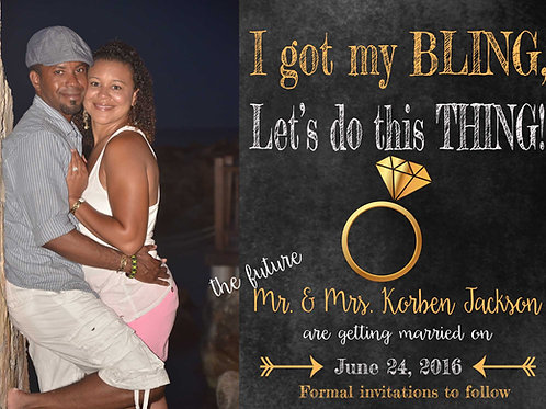 Got My Bling Save The Date