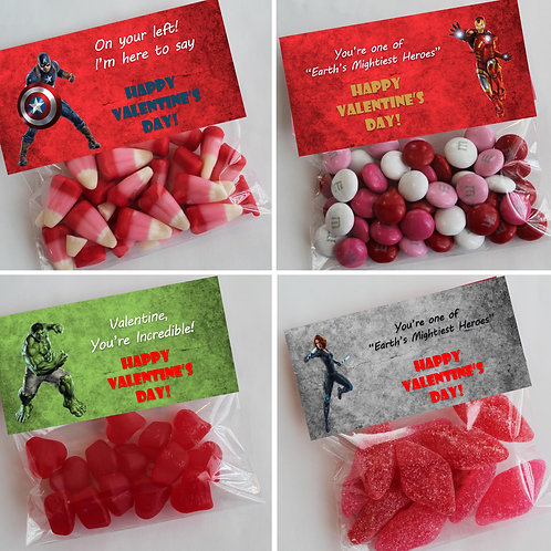 Avengers Valentine Treat Topper