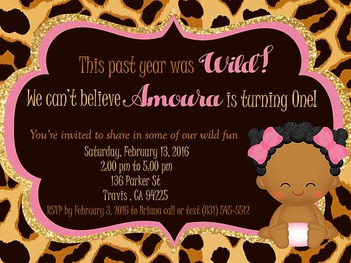 Wild and One Birthday Invite