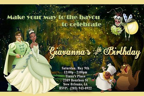 Princess & the Frog Tiana  Birthday Invitation
