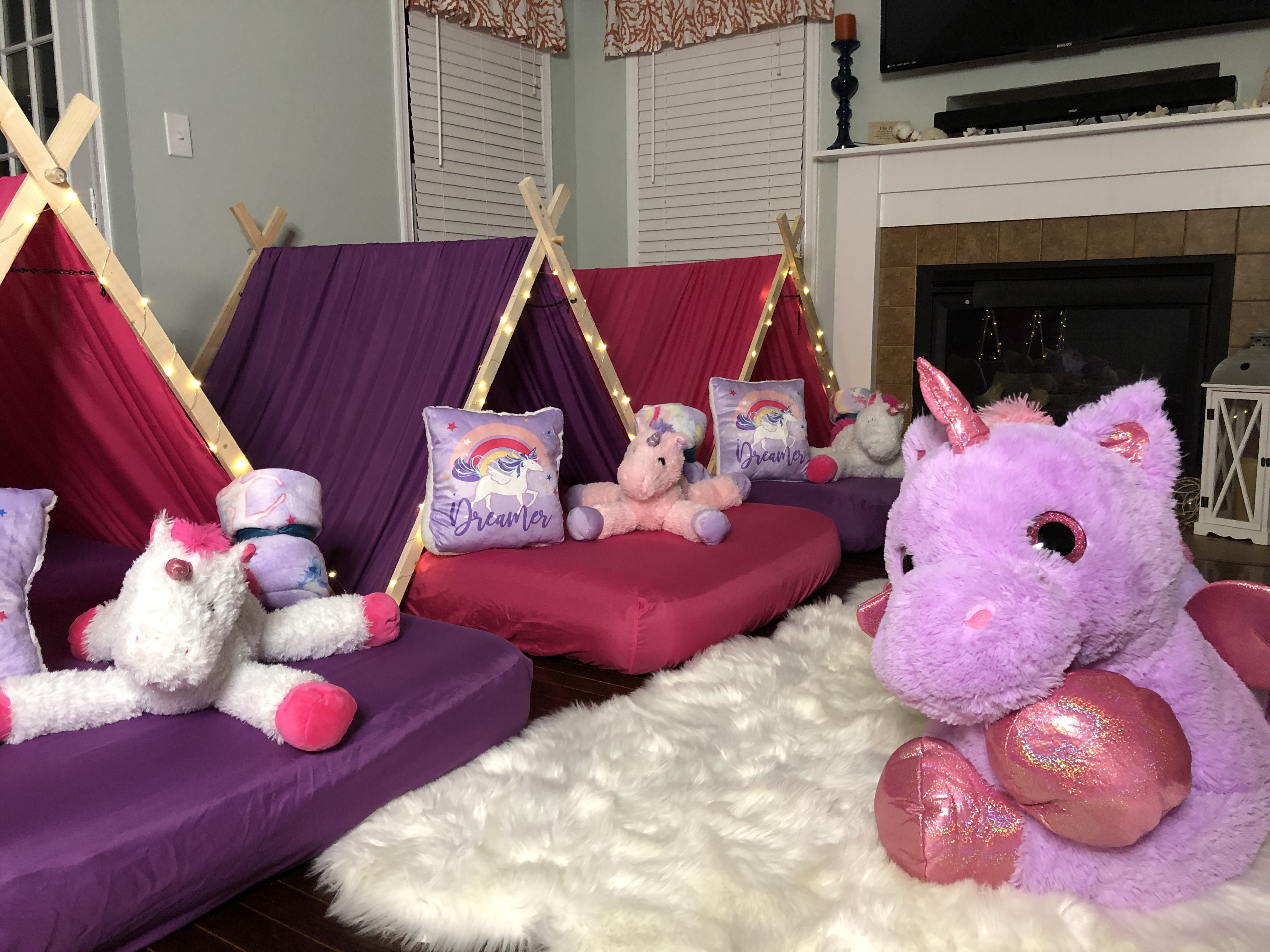 Unicorn Sleepover Tent Party